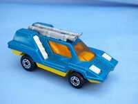 1975 Vintage Matchbox Superfast No 68 Cosmobile Blue Yellow Futuristic Car Toy