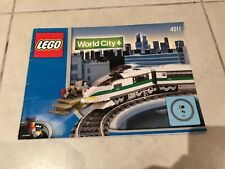 LEGO 4511 World City - 9V High Speed Train Instruction Booklet Only