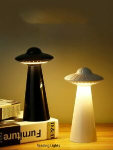 UFO Design USB Rechargeable LED Table Lamp Dimmable Reading Flicker-Free Light