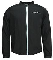 Puma Evo Stripe Full Zip Mens Bomber Track Fitness Jacket Black 838999 01 CC15