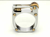 925 Silver Fashion Punk Gothic Lighter Style Ring Party Jewelry Women Sz 6-10