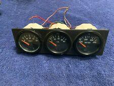 Center Console Gauges Vdo Gauge Set of 3 Volt Oil Pressure Water Temp Radio Slot