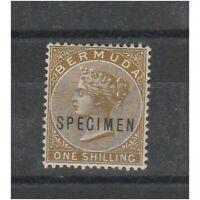 Bermuda 1883 Victoria Specimen Victoire Effigie 1 Val Mlh S. G. N.29s MF54029