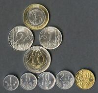 Moldova Moldavia 1 5 10 25 Bani 2017 50 bani 2008 1 2 5 10 Lei 2018 UNC