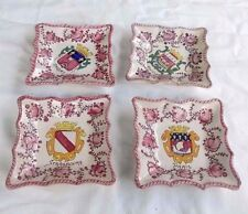 4 French Soft Paste Glased Pottery Armorial Trays.