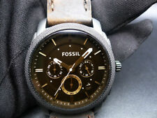 New Old Stock - FOSSIL MACHINE FS4656 - Dark Brown Dial Leather Strap Men Watch