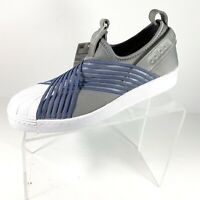 Adidas Originals Superstar Slip On Women's Shoes Size 8.5 Gray/Blue/white New