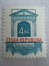 1996 Czech Republic Architectural Styles 4k Red & Blue u/m Mi.118, A7A10