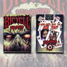 ZOMBIFIED BICYCLE DECK OF PLAYING CARDS BY USPCC ZOMBIE HORROR MAGIC TRICKS GAME