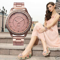 UK Lattest Women Crystal Bracelet Stainless Steel Dial Analog Quartz Wrist Watch