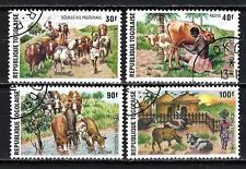 Animaux vie pastorale Togo (201) série complète 4 timbres oblitérés