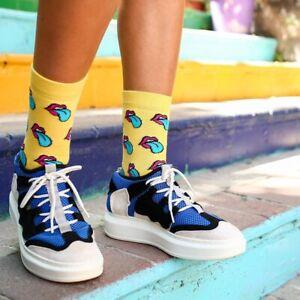 Women Rolling Stone Funny Socks/Cute Socks/Gift Socks/Novelty Socks