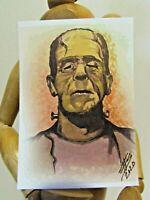 FRANKENSTEIN ACEO Print Card by Pop Culture Artist Phil Born artwork monster