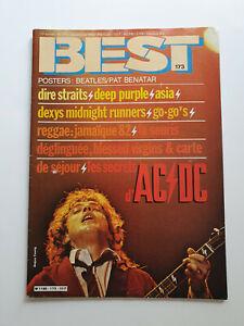 REVUE BEST N° 173 DEC 1982 ACDC DIRE STRAITS DEEP PURPLE REGGAE + POSTER BEATLES
