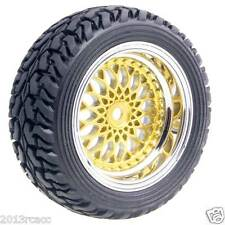 RC 1:10 On-Road Rally Car HSP 2082-8019 Plating Wheel Offset:9mm Rally Tires