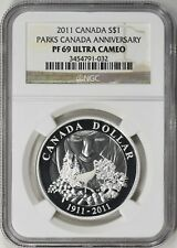 2011 Canada Parks 100th Anniversary Silver $1 Dollar Coin NGC PF69 Ultra Cameo