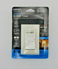 myTouch Smart In-Wall Digital Timer 26893 Indoor/Outdoor Lights or Other Devices