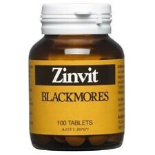 BLACKMORES ZINVIT 100 TABS ZINC & MAGNESIUM SUPPLEMENT VITAMIN ZINC DEFICIENCY