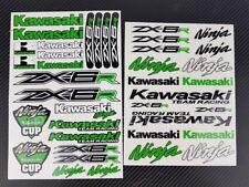ZX-6R Ninja Motorrad Aufkleber blatt stickers kawa helme zx6r grun Laminiert