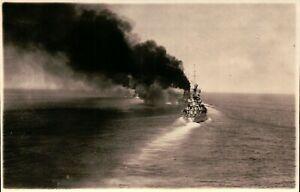 ANTICA FOTOGRAFIA DEL 1930/40 - NAVE REGIA MARINA IN NAVIGAZIONE -