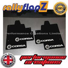 Rallyflapz per adattarsi VAUXHALL CORSA C (00-07) ANTIBECCHEGGIO Logo Nero Bianco PVC 3mm