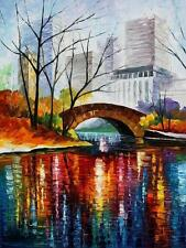 "CENTRAL PARK - NEW YORK  —  Oil Painting On Canvas By Leonid Afremov 30""x40"""