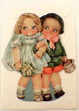 Victorian Turn Of The Century Boy & Girl Wedding Bride Groom Note Card  #Grc043