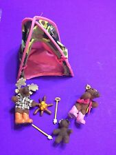 So Small Pets Moose On the Loose Camping Only Hearts Club Euc Lot Tent Family