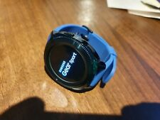 SAMSUNG GEAR SPORT SM-R600 nero Case Blu Fibbia Fitness Smart Watch Touch