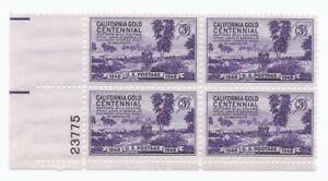 U.S. SCOTT 954 MNH 3 CENT PLATE BLOCK OF 4 1948 - CALIFORNIA GOLD RUSH