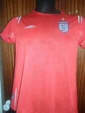 David Beckham and Michael Owen signed England shirt