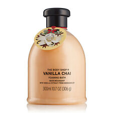 Body Shop ◈ VANILLA CHAI ◈ Foaming Bath 300ml ◈ Blissful Foam ◈ Festive Scent