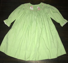 Boutique Smocked Candy Cane Christmas Dress Santa Candy Cane Gingham Pleated