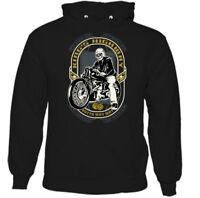 King's Highway Mens Funny Biker Hoodie Motorbike Motorcycle Bike Indian Chopper