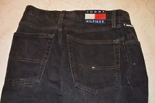 Tommy Hilfiger Boy's Jeans Size 28Waist 26 Length. Black with Logos
