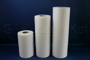 Filtervlies Vliesrolle für Genesis 30 bis 115 cm x 200m 0,25€/m² 20 gr
