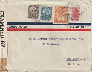 1942 Colombia IIWW censored cover from Medelin to Bodway New York USA