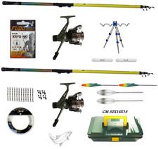 kit start pesca trota lago 2 canne tornado + mulinelli + accessori