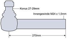 6445-6499 7465-8480 Teleskop Spiegelhalter für Massey Ferguson MF 5425-5480