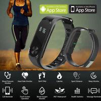 M2 Smart Armband Watch Schrittzähler Pulsmesser Fitness Tracker Sport Uhr heiß D