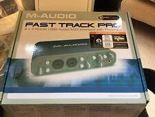 Vía rápida de audio-M Pro Audio & Interfaz Midi En Caja Excelente Estado Home Studio