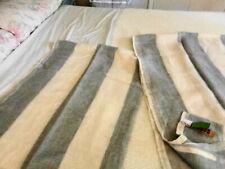 "2 Restoration Hardware Belgian Linen Sheer Tonal Stripe Drapes Panels 50 X 84"""