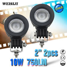 WEISIJI 2Pcs/Set  2'' Flood Beam 10W LED Fog Lights Yamaha Motorcycle Harley SUV