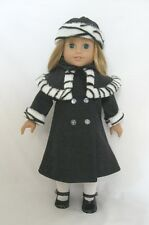 "Doll Clothes Fit AG 18"" Coat Hat Mittens Nellie Made For American Girl Doll"