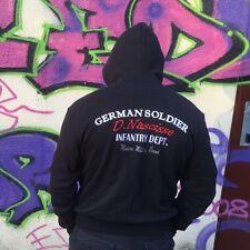 Kapuzenjacke German Soldier schwarz,Gr.M Walhalla,Odin,Militär,EK,Heer,Infantry