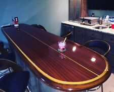 wood surfboard bar table wall art home decor