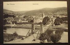 Alte Foto AK PK Ansichtskarte ca.1900:Bad Nassau/Lahn - Ansicht m. Kettenbrücke
