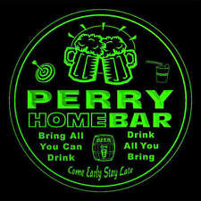4x ccq34708-g PERRY Home Bar Ale Beer Mug 3D Engraved Drink Coasters