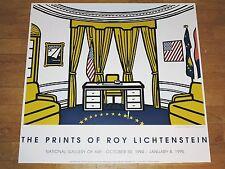 """ROY LICHTENSTEIN EXHIBITION POSTER """" THE OVAL OFFICE """" 1994 POP ART ORIGINAL"""