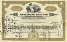 National Tea Company > 1930s Chicago Illinois stock certificate share